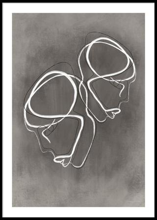 Double portrait poster, 30x40cm