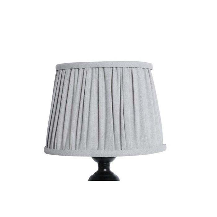 Lampskärm grå veckad oval, liten