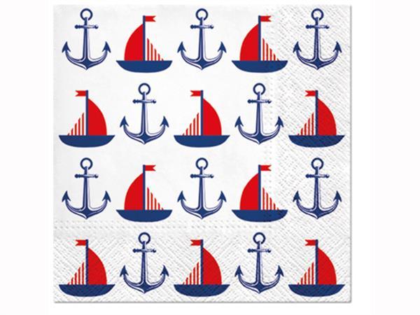 Servett båt & ankare