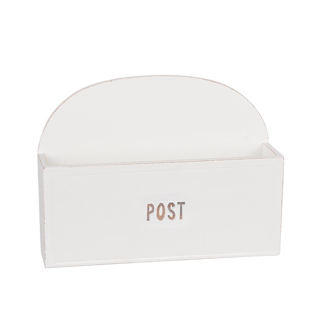 Postlåda för vägg vit