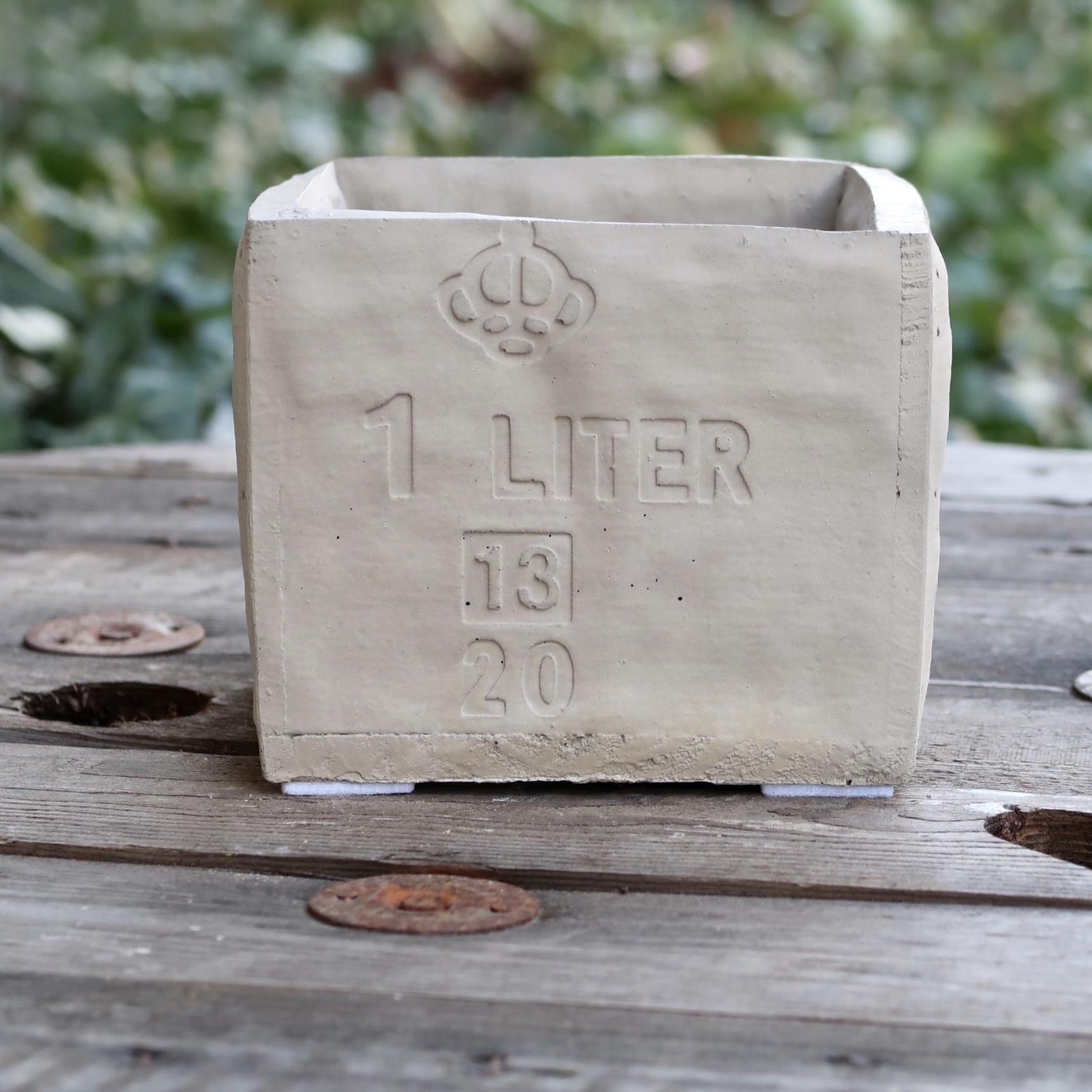 1 Liter kruka i betong