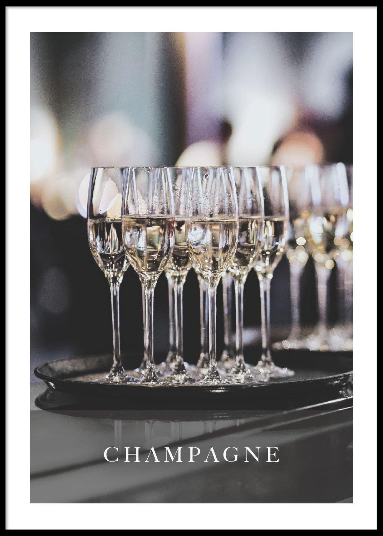 Champagne poster, 30x40cm