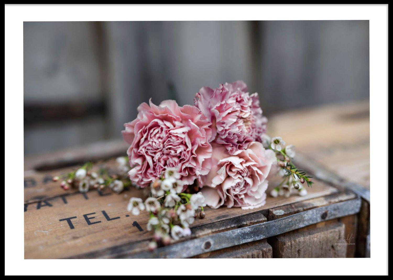Blommor liggande poster, 50x70cm