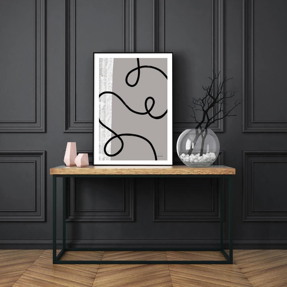 Black Flow Poster 50X70cm