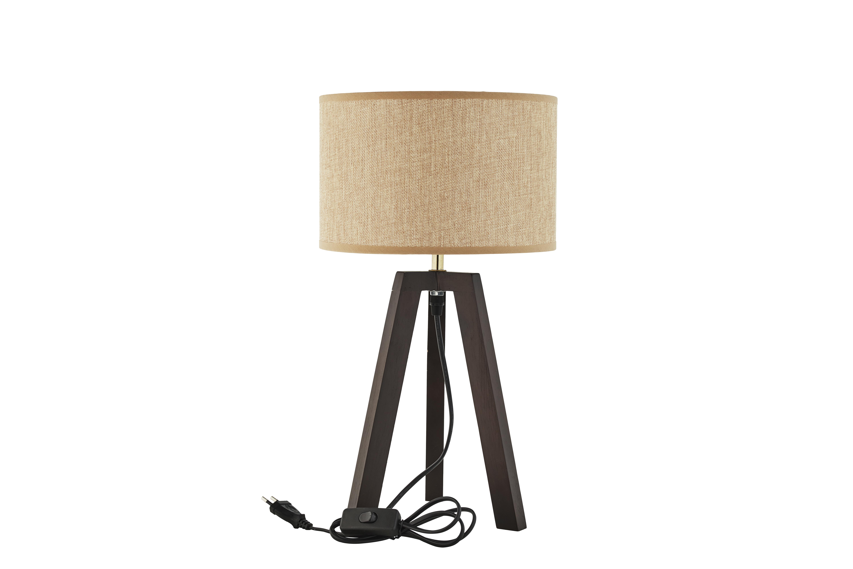 Bordslampa trä med skärm, Speedtsberg