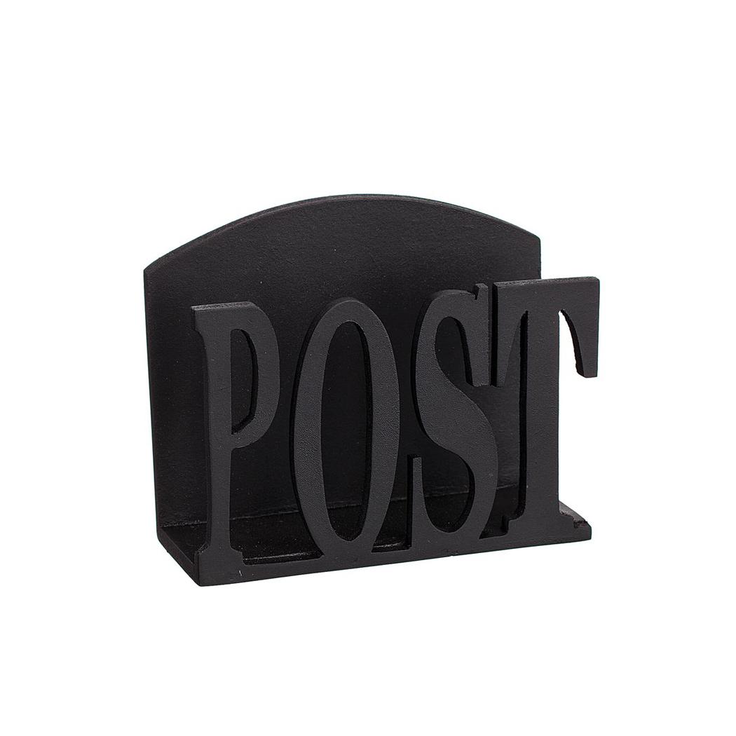 Postfack svart i trä