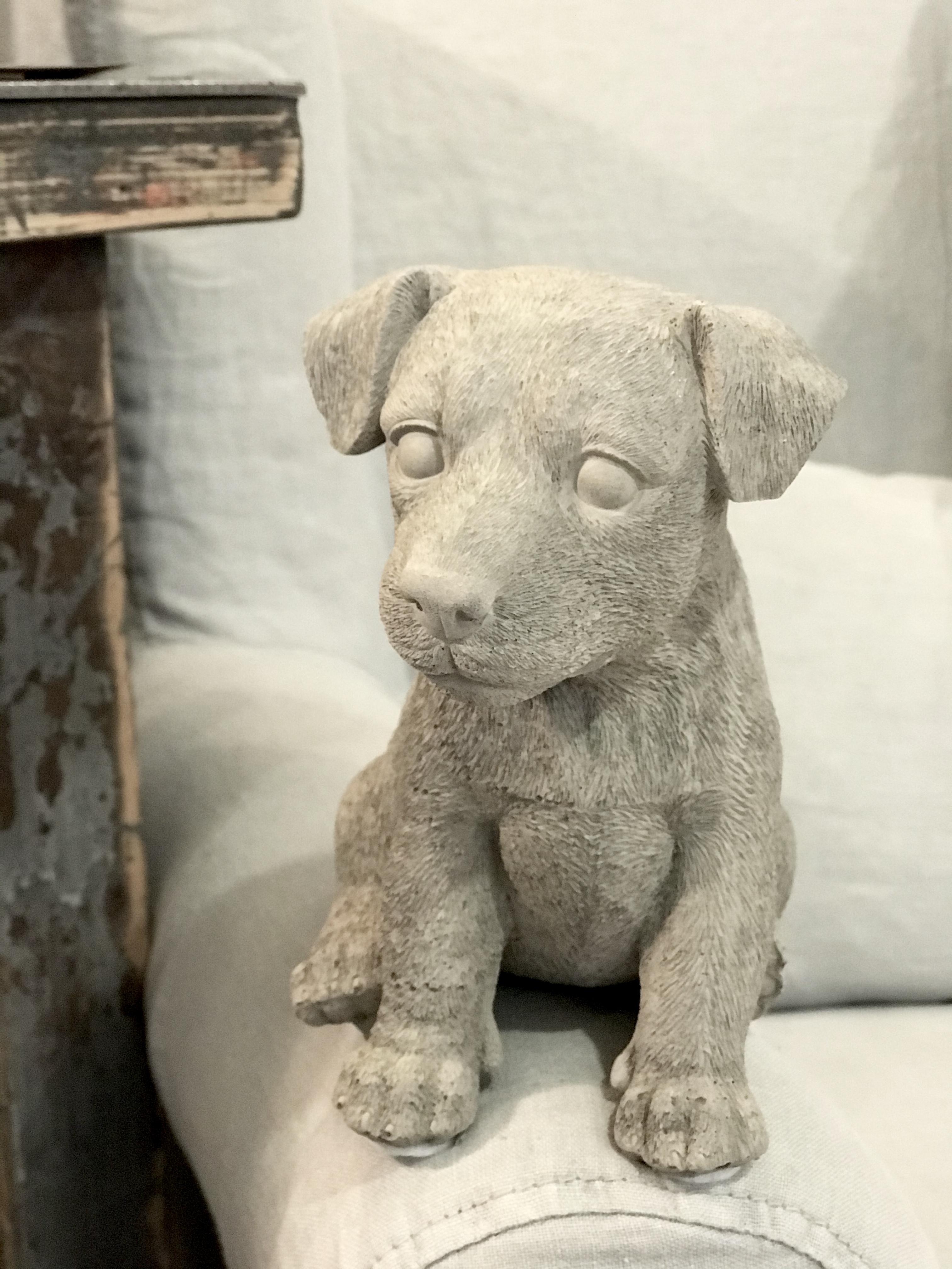Hund Jack Russel  i betong
