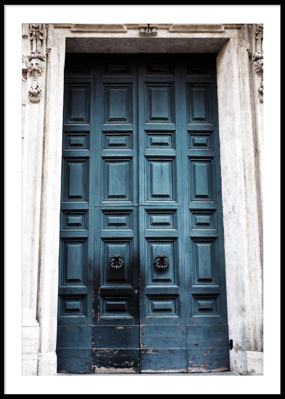 Blå dörr, Poster 30x40cm