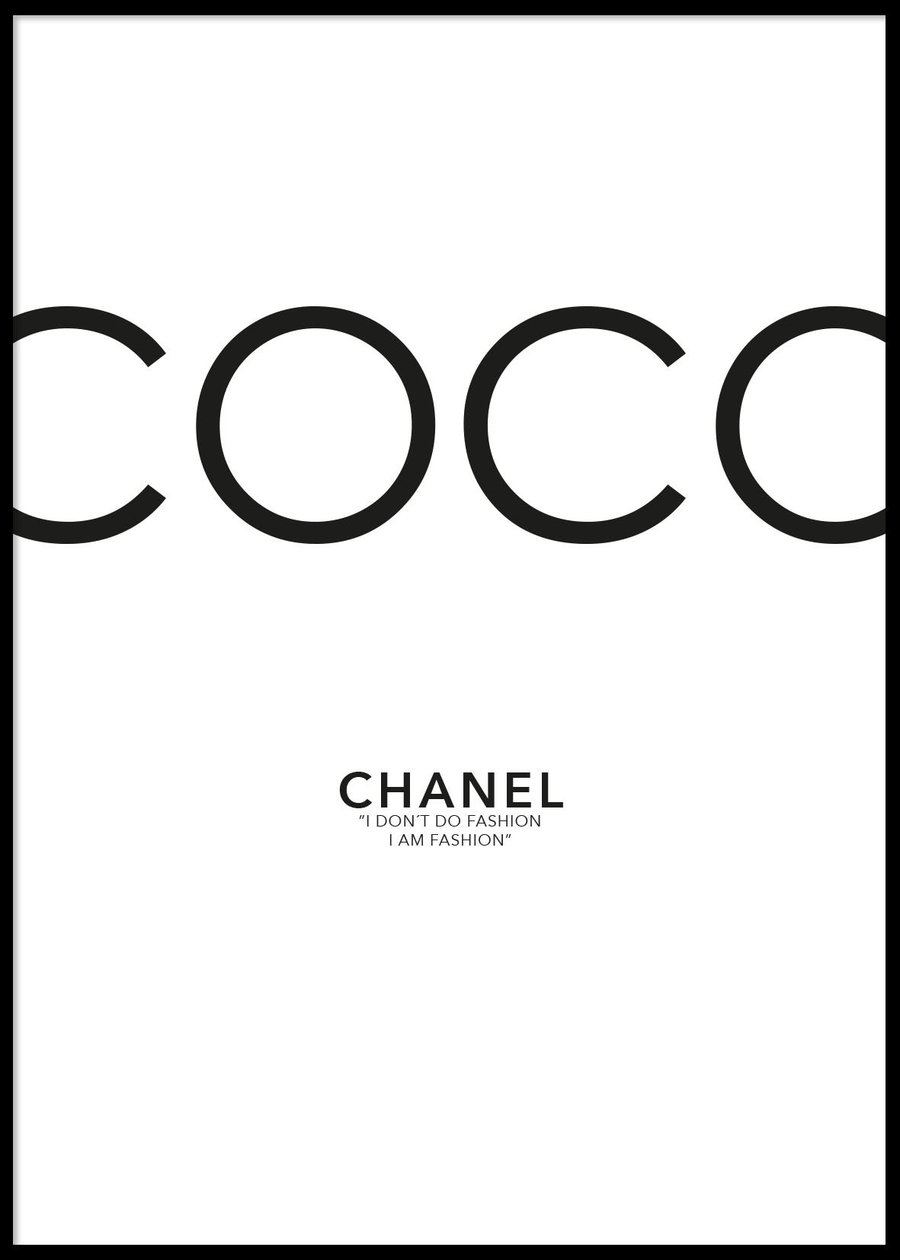 Coco Chanel poster, 50X70cm