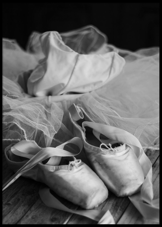 Ballerinna skor, poster 50x70cm