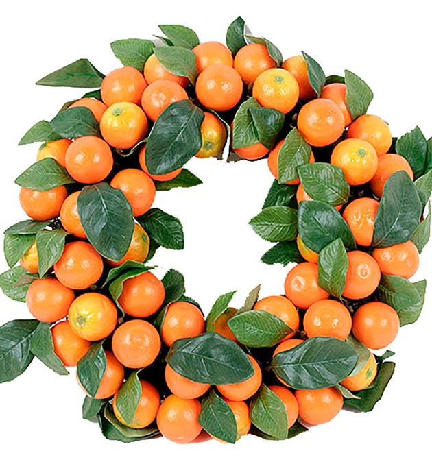 Krans med apelsiner