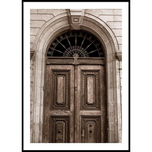 Barcelona dörr poster, 30x40cm