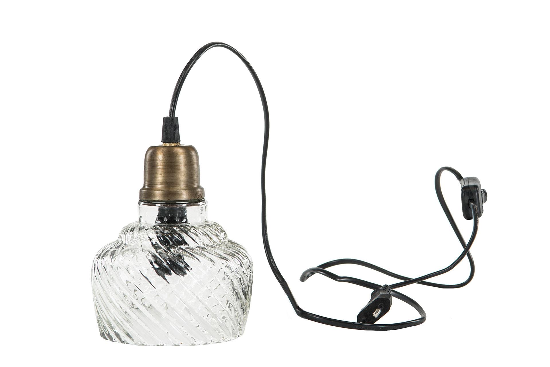 Fönster lampa glas med mässing