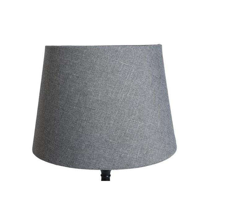 Lampskärm linne grå, XL