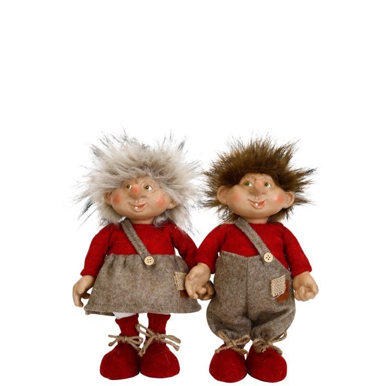 Troll Leo & Lea i röda kläder