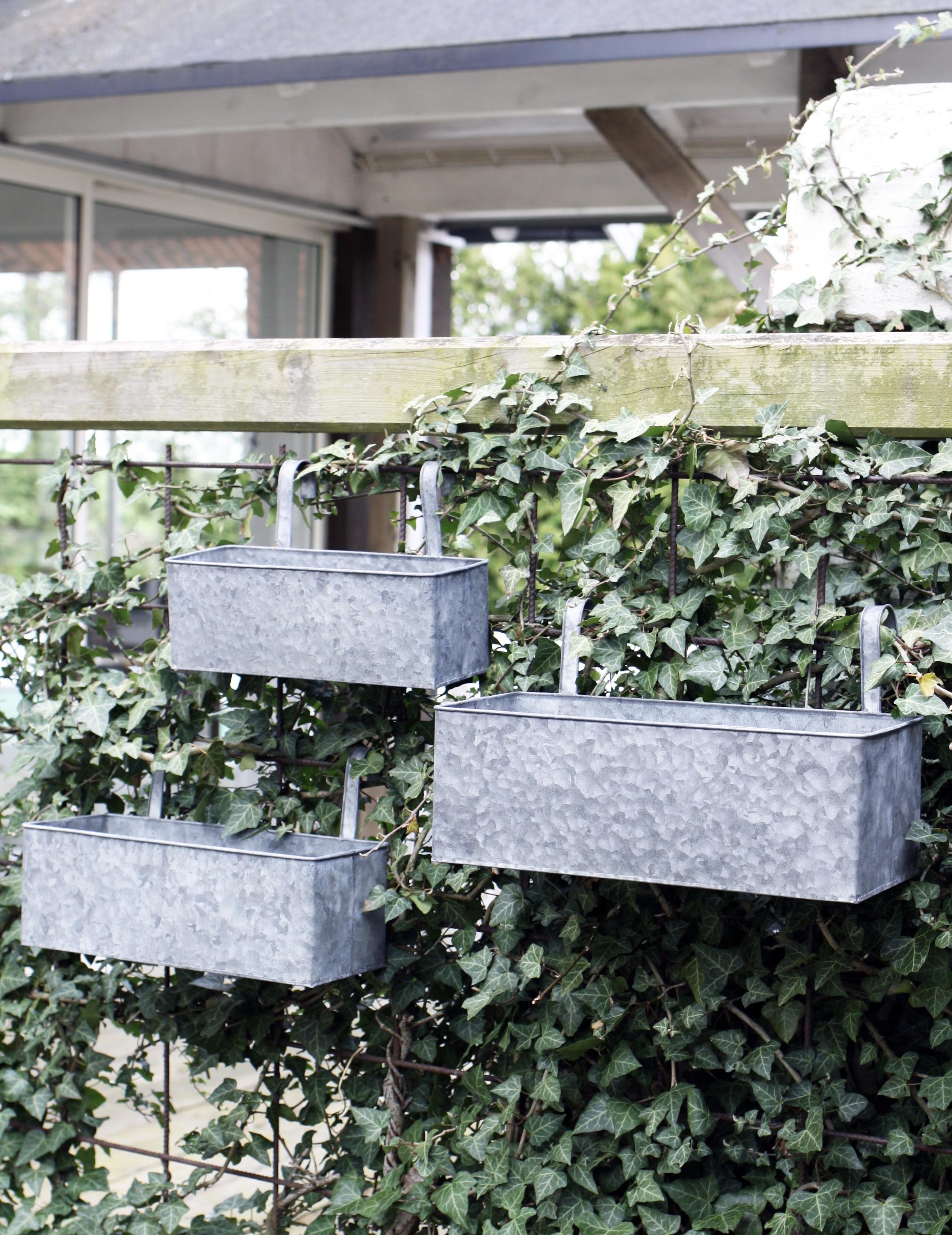 Balkonglådor i zink