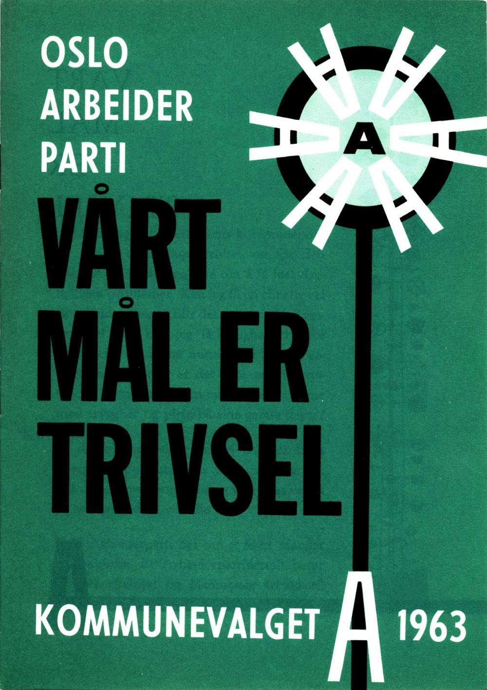 Vårt mål er trivsel - Oslo arbeiderparti - Kommunevalget 1963