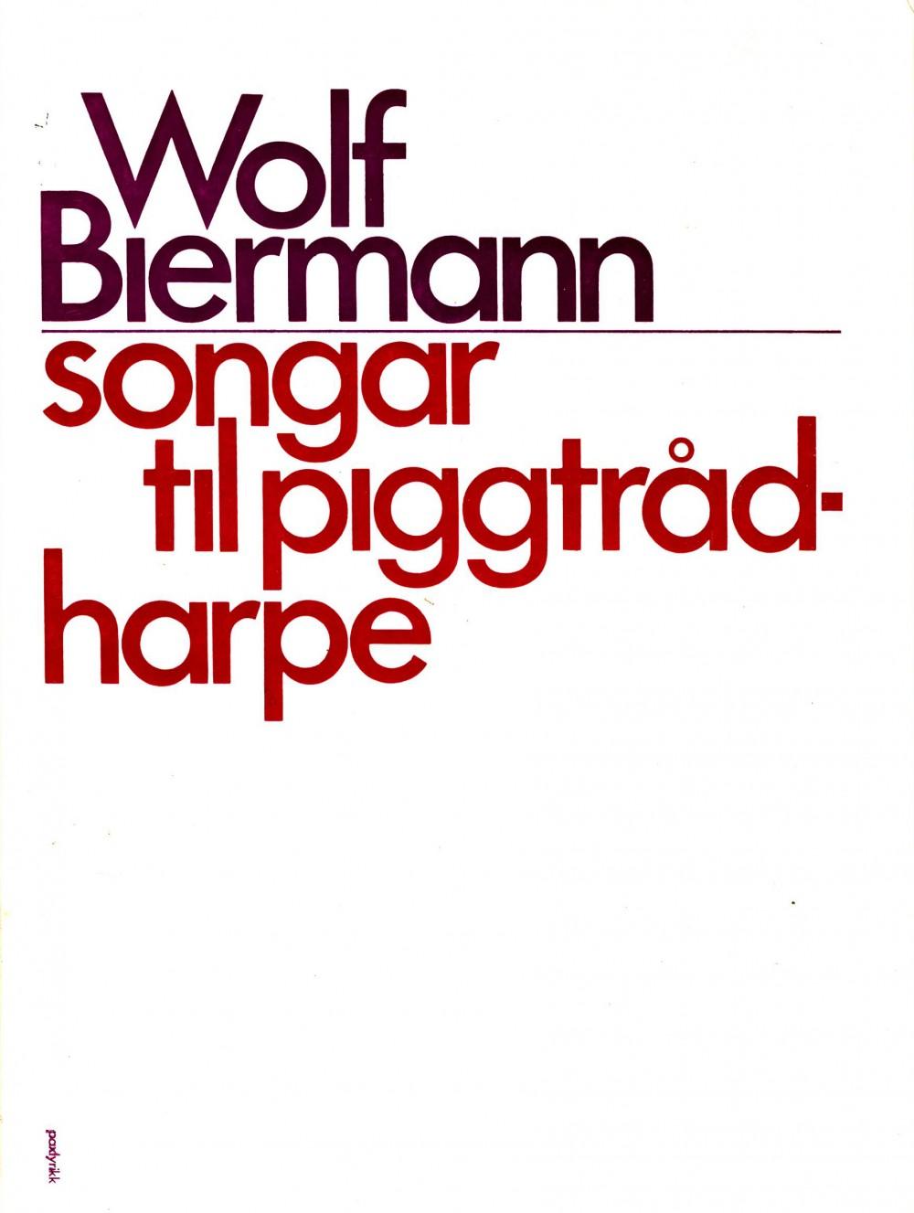 Wolf Biermann: Songar til piggtrådharpe