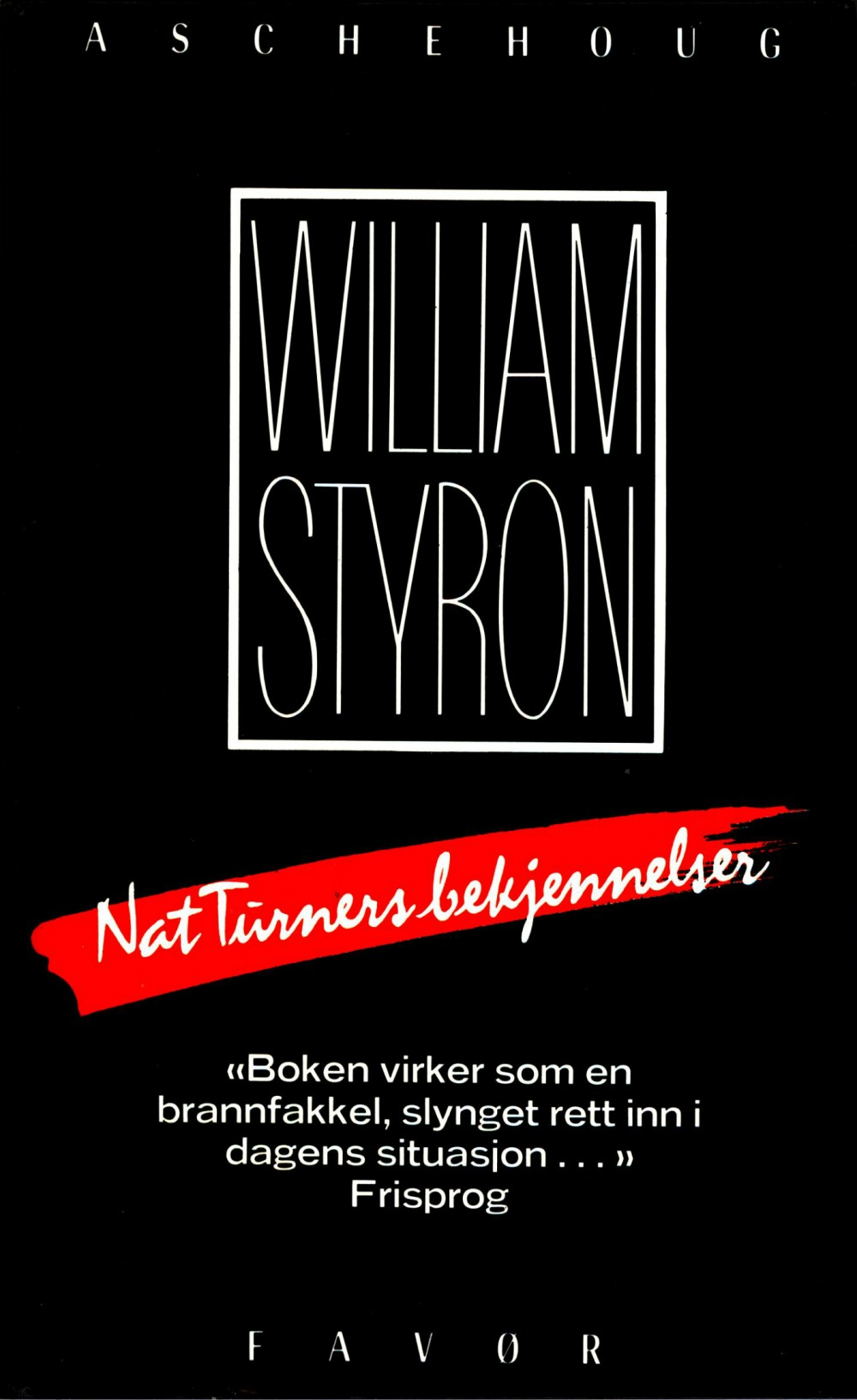 William Styron: Nat Turners bekjennelser
