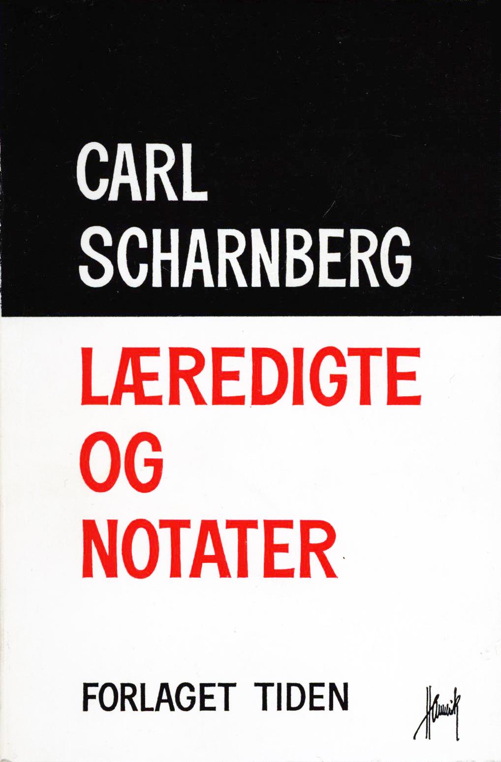 Carl Scharnberg: Læredigte og notater