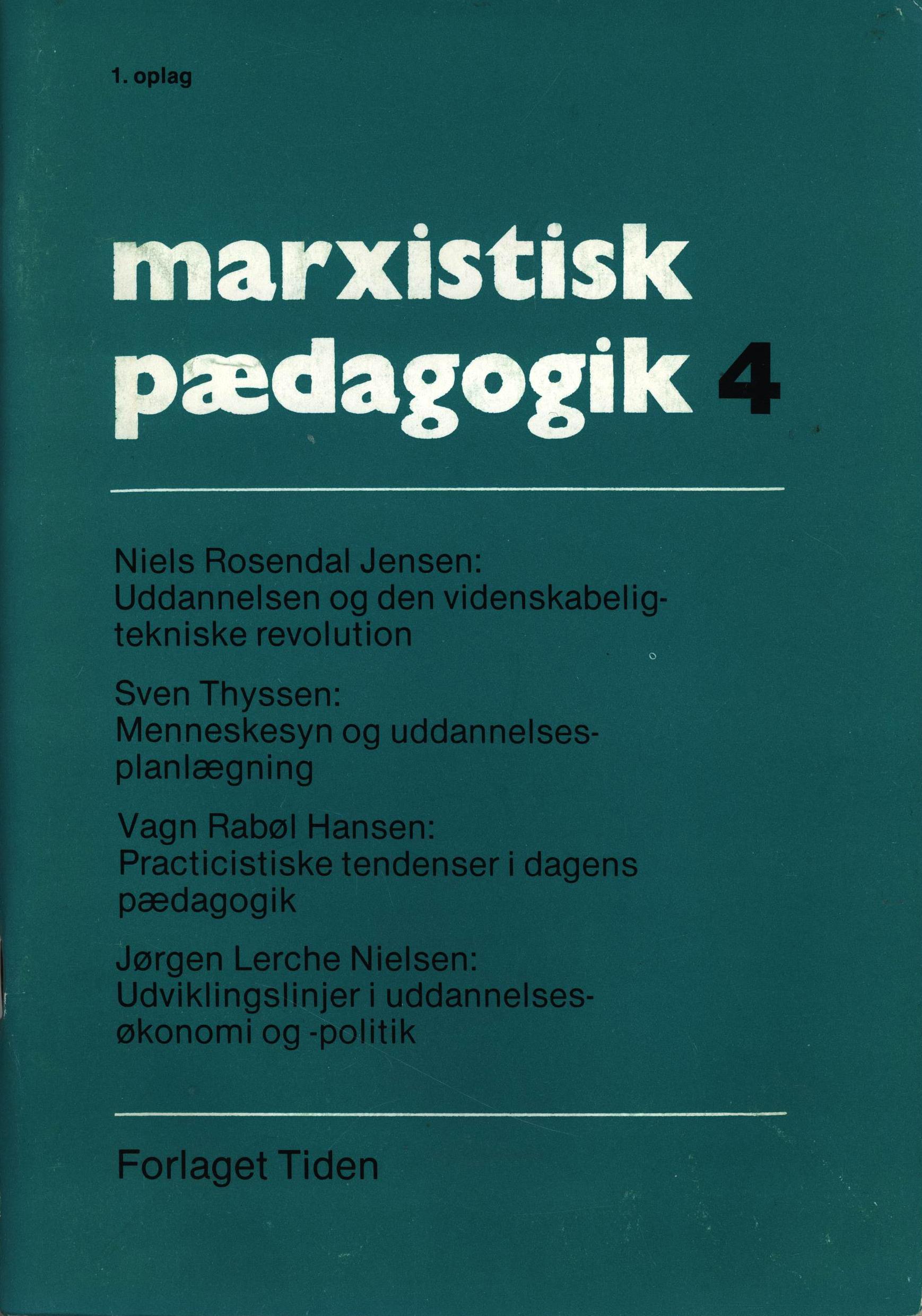 Marxistisk pædagogik #4