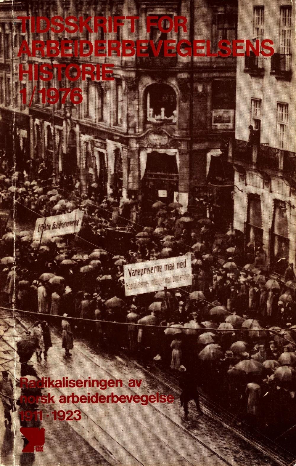 Tidsskrift for arbeiderbevegelsens historie - nr. 1 1976