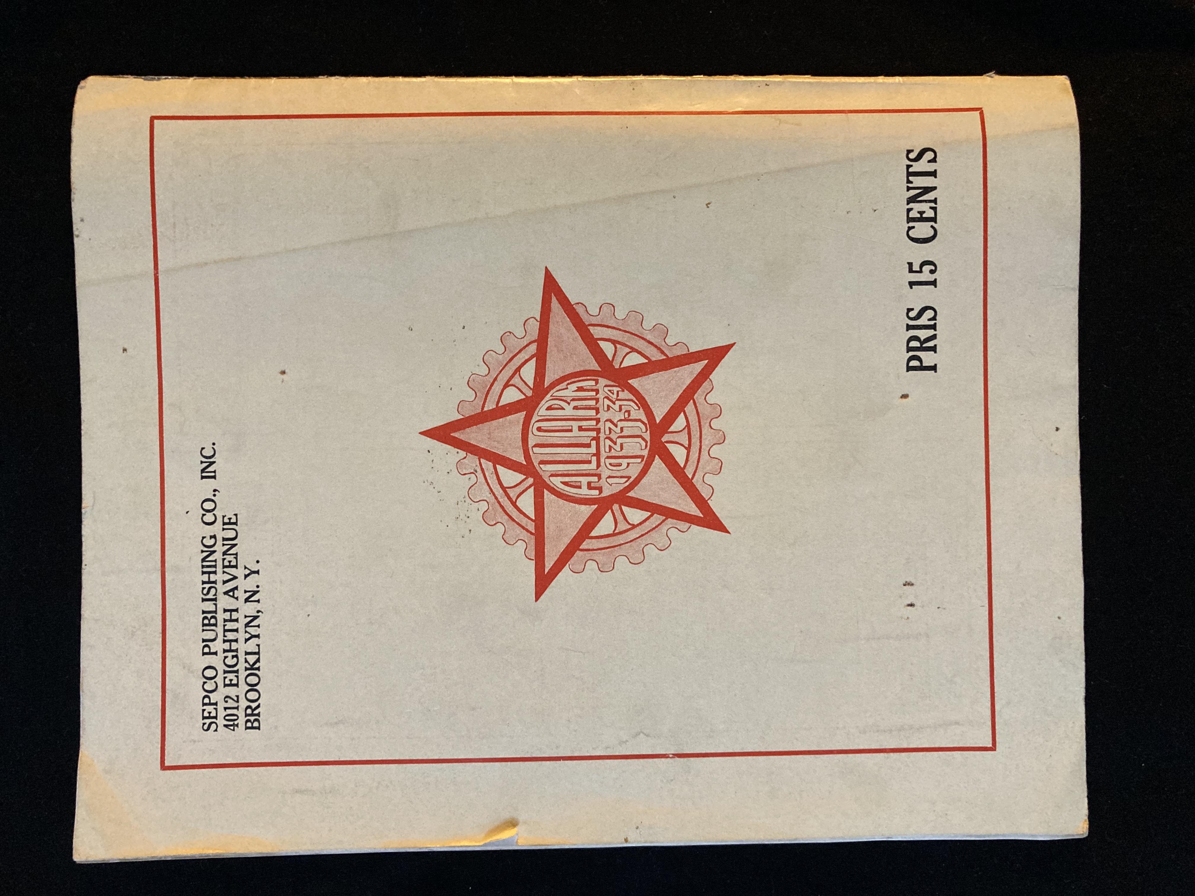 Alarm 1933-34