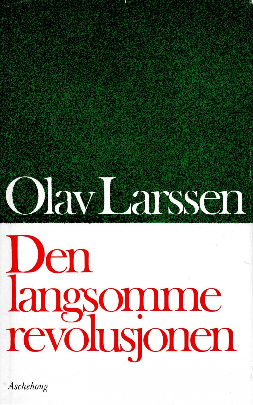 Olav Larssen: Den langsomme revolusjonen