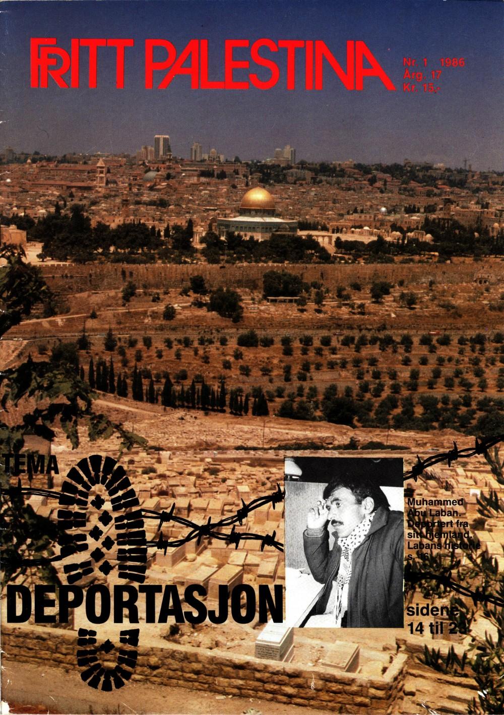 Fritt Palestina - nr. 1 1986
