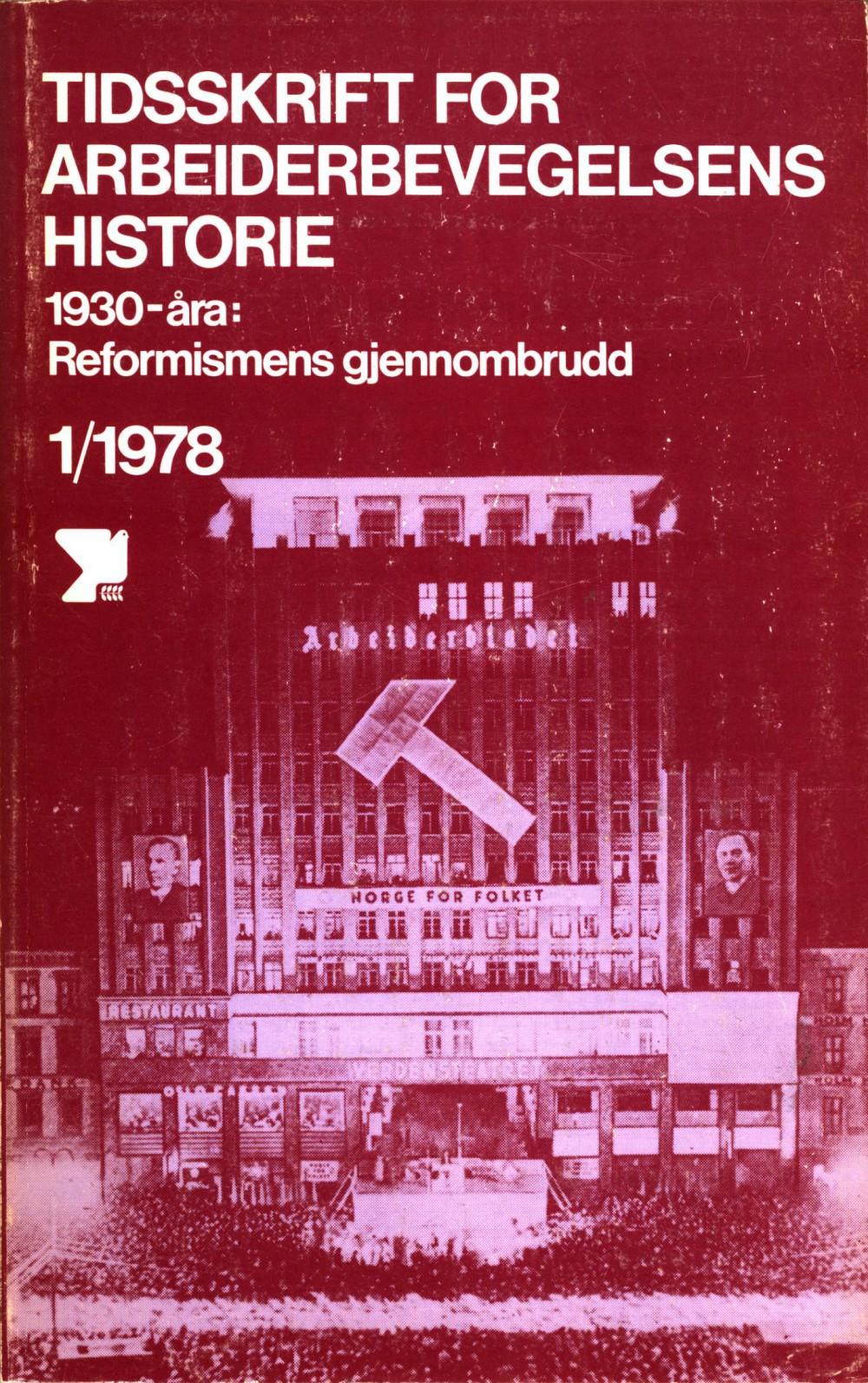 Tidsskrift for arbeiderbevegelsens historie - nr. 1 1978