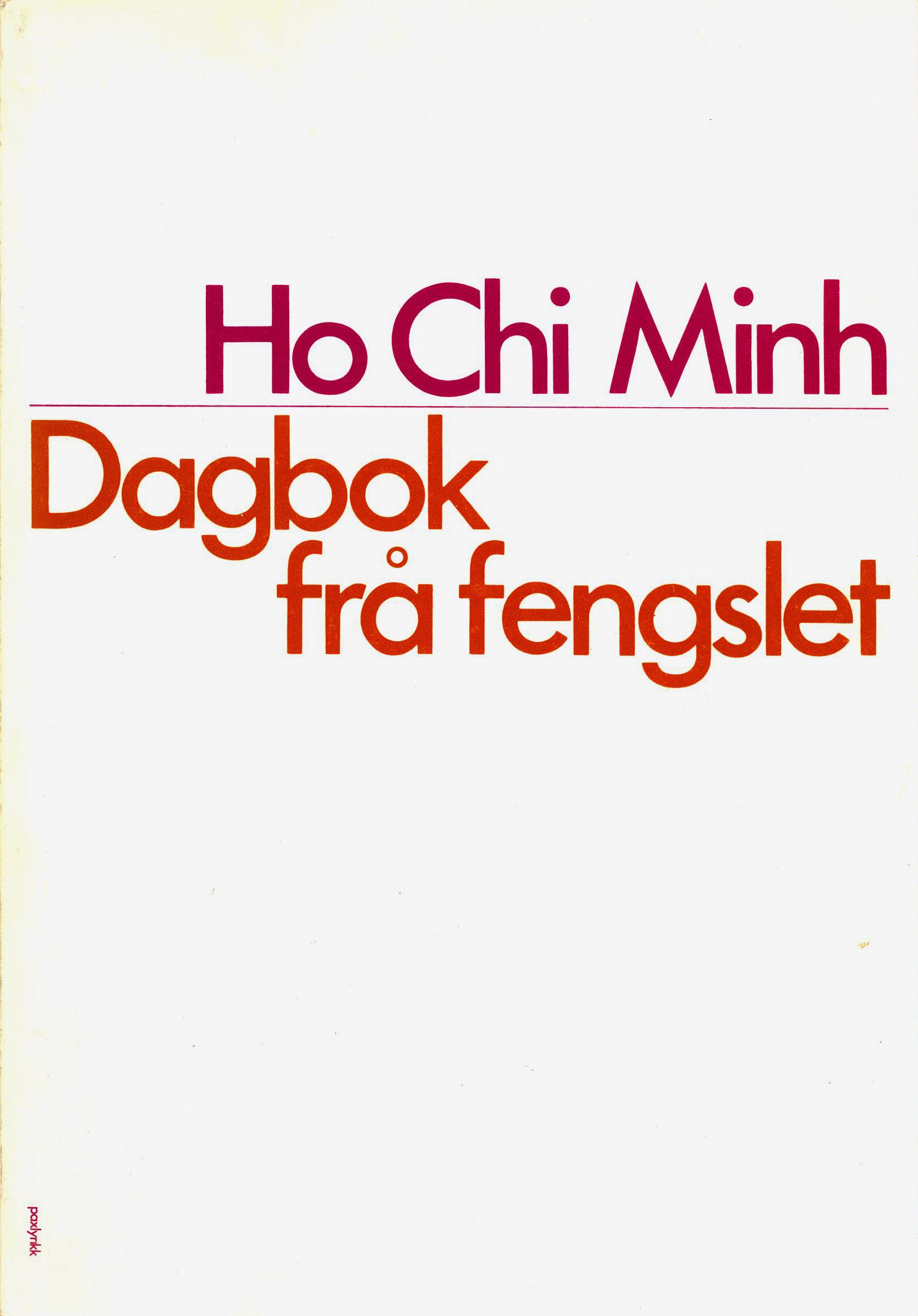 Ho Chi Minh: Dagbok frå fengslet
