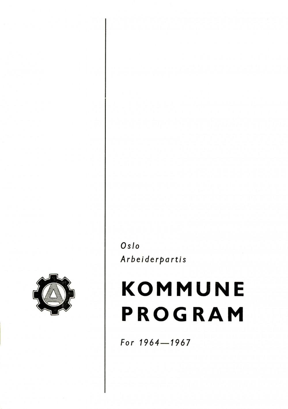 Oslo Arbeiderpartis kommuneprogram for 1964-1967