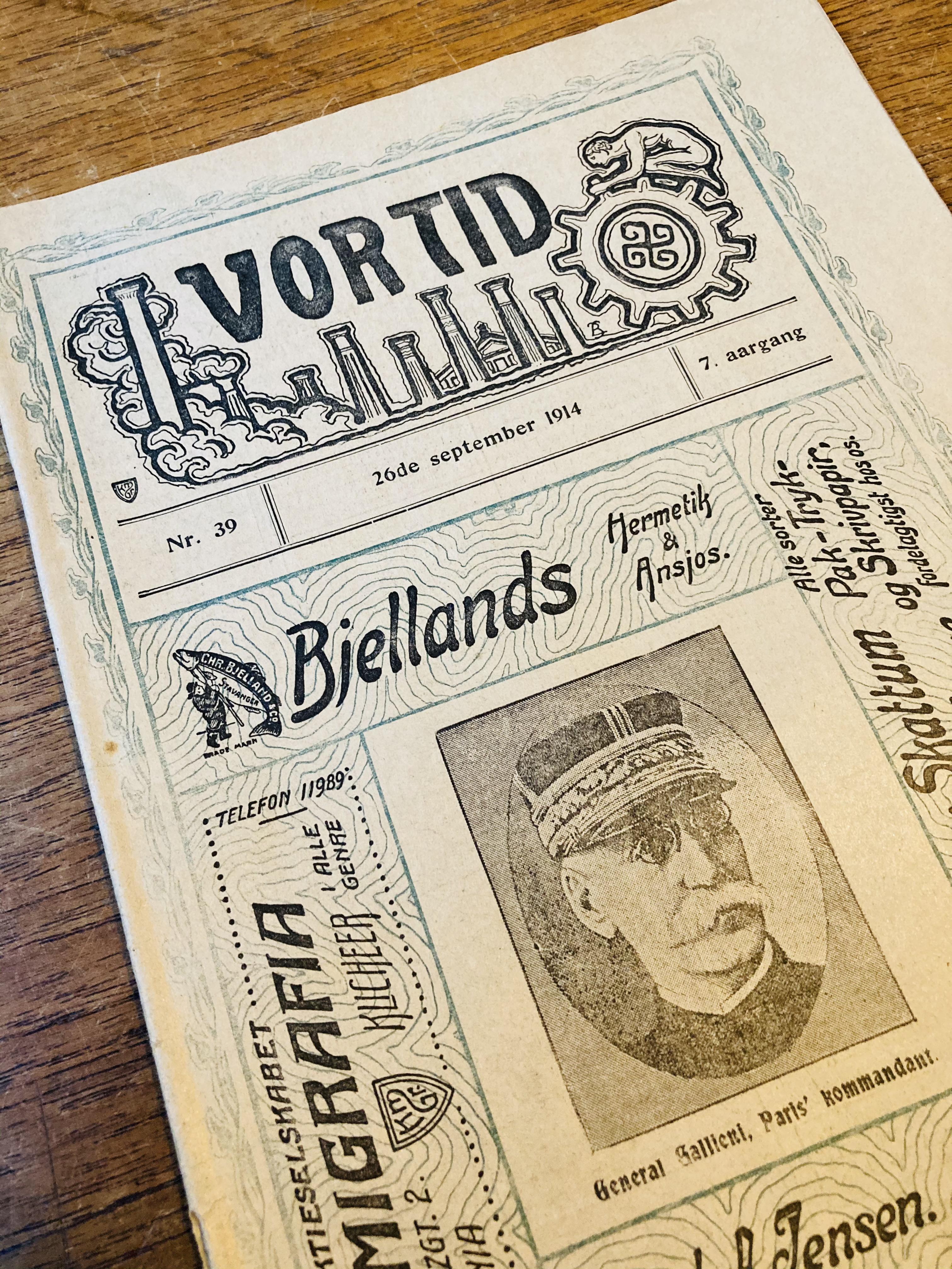 Femten utgaver av Vor Tid 1912-1916