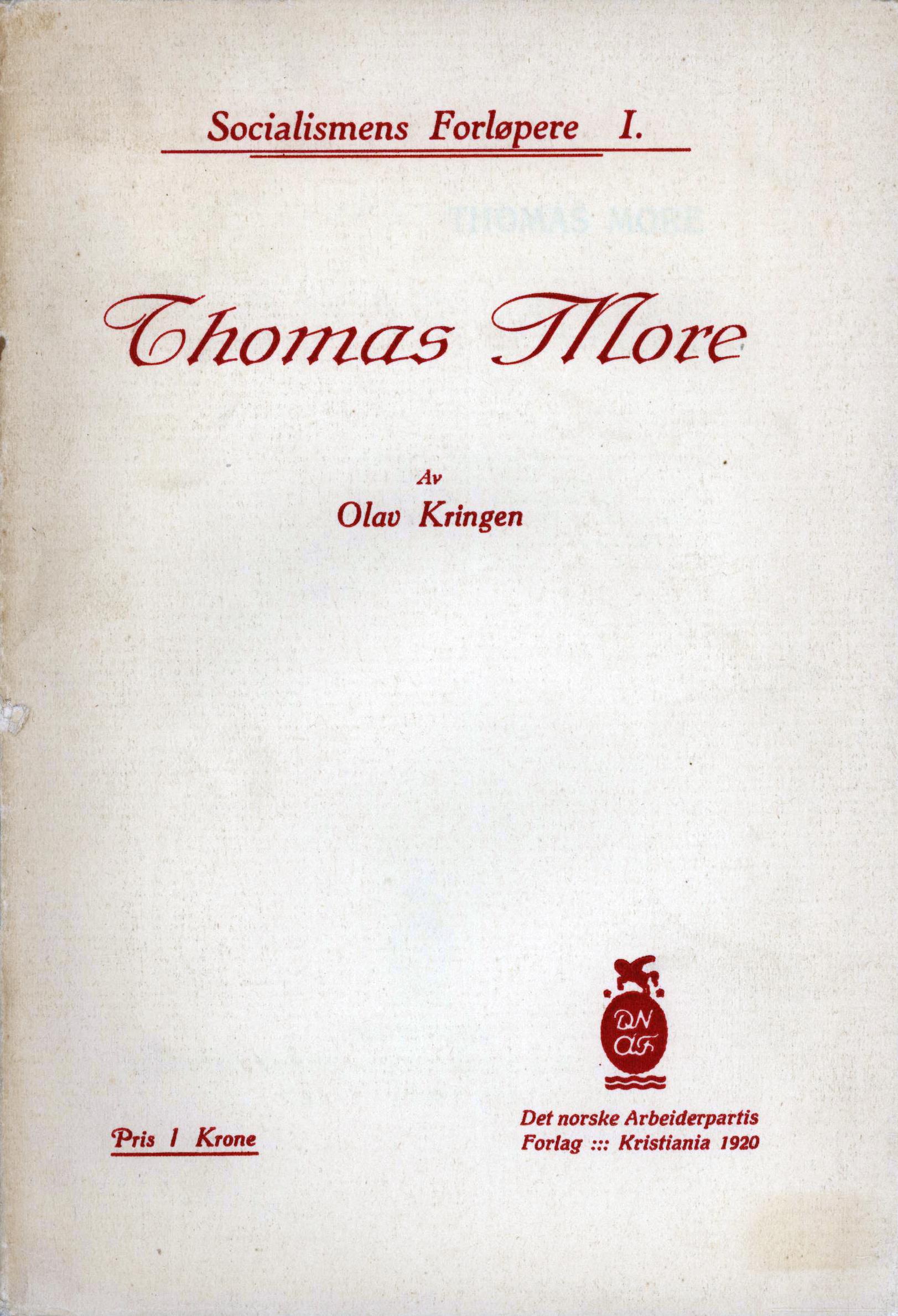 Olav Kringen: Thomas More