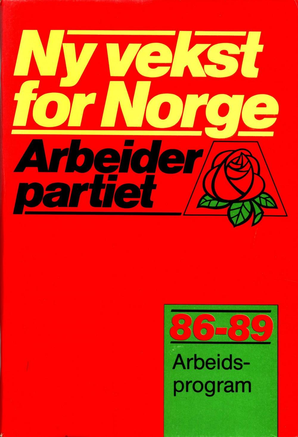 Ny vekst for Norge - Arbeidsprogram 1986-1989