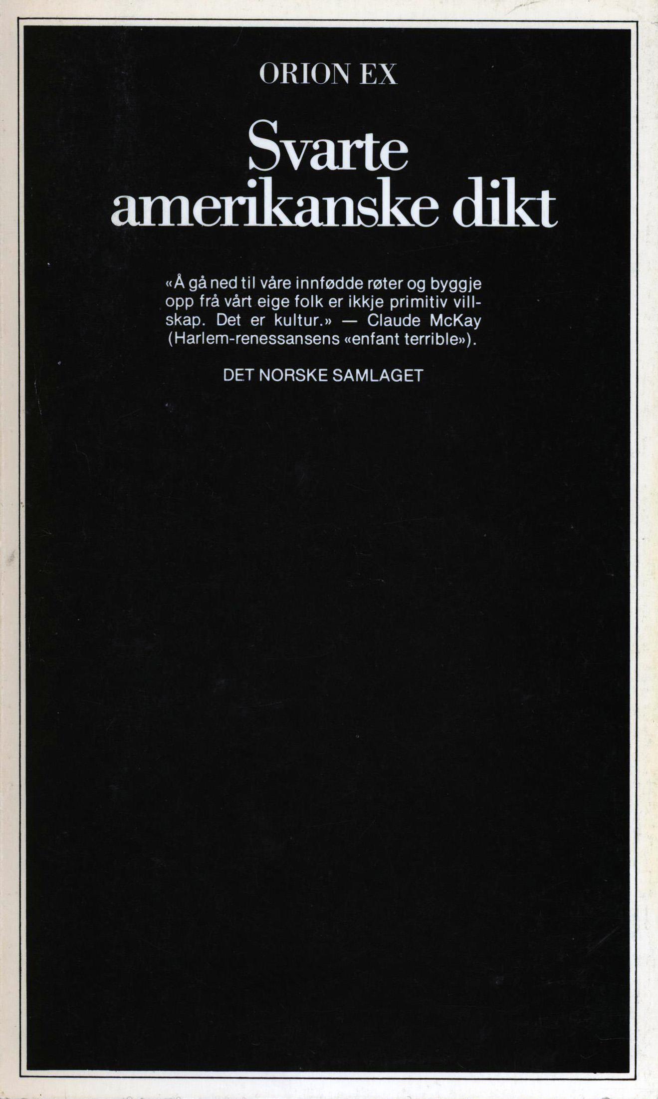 Diverse forfattere: Svarte amerikanske dikt
