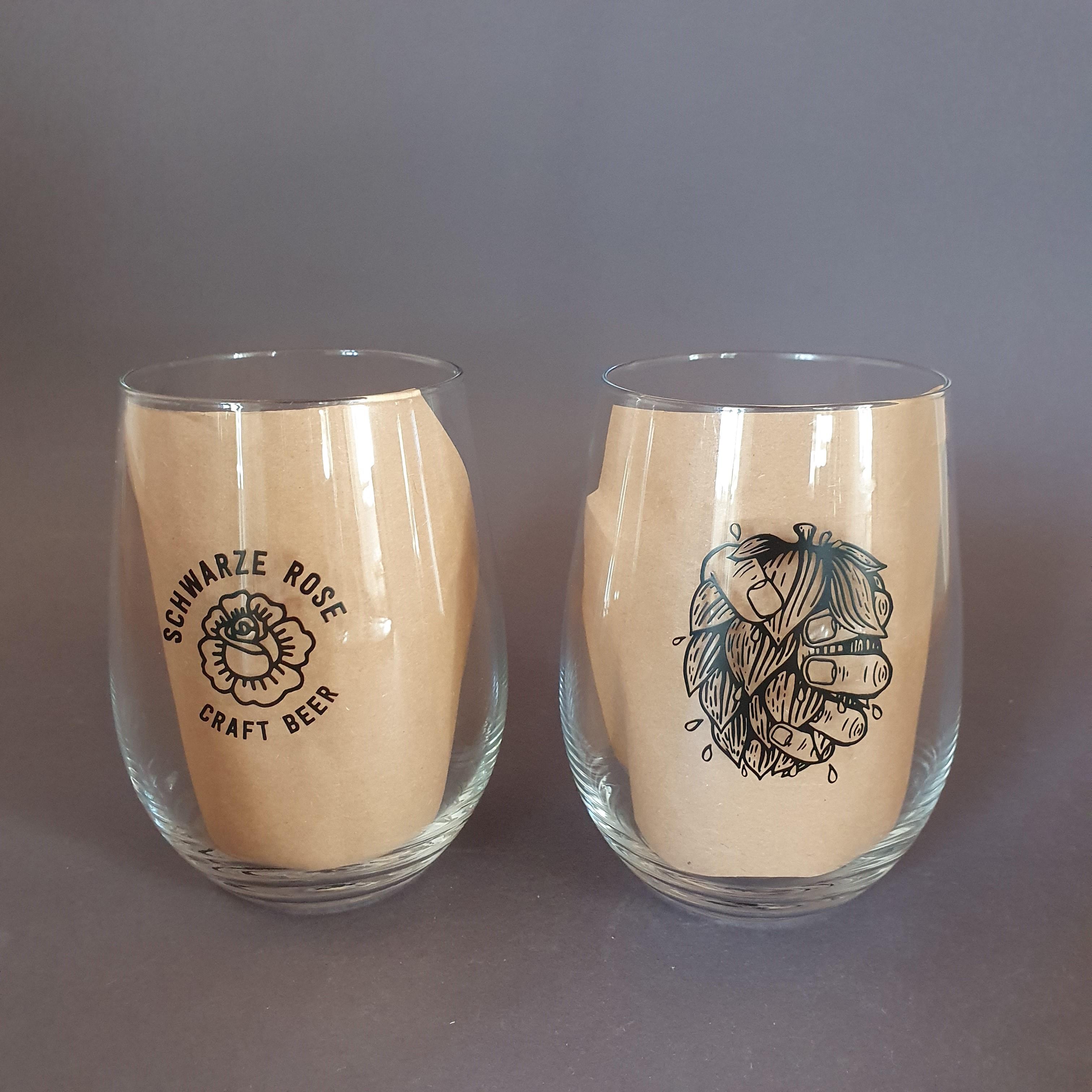 Craft-Beer-Glas von Schwarze Rose