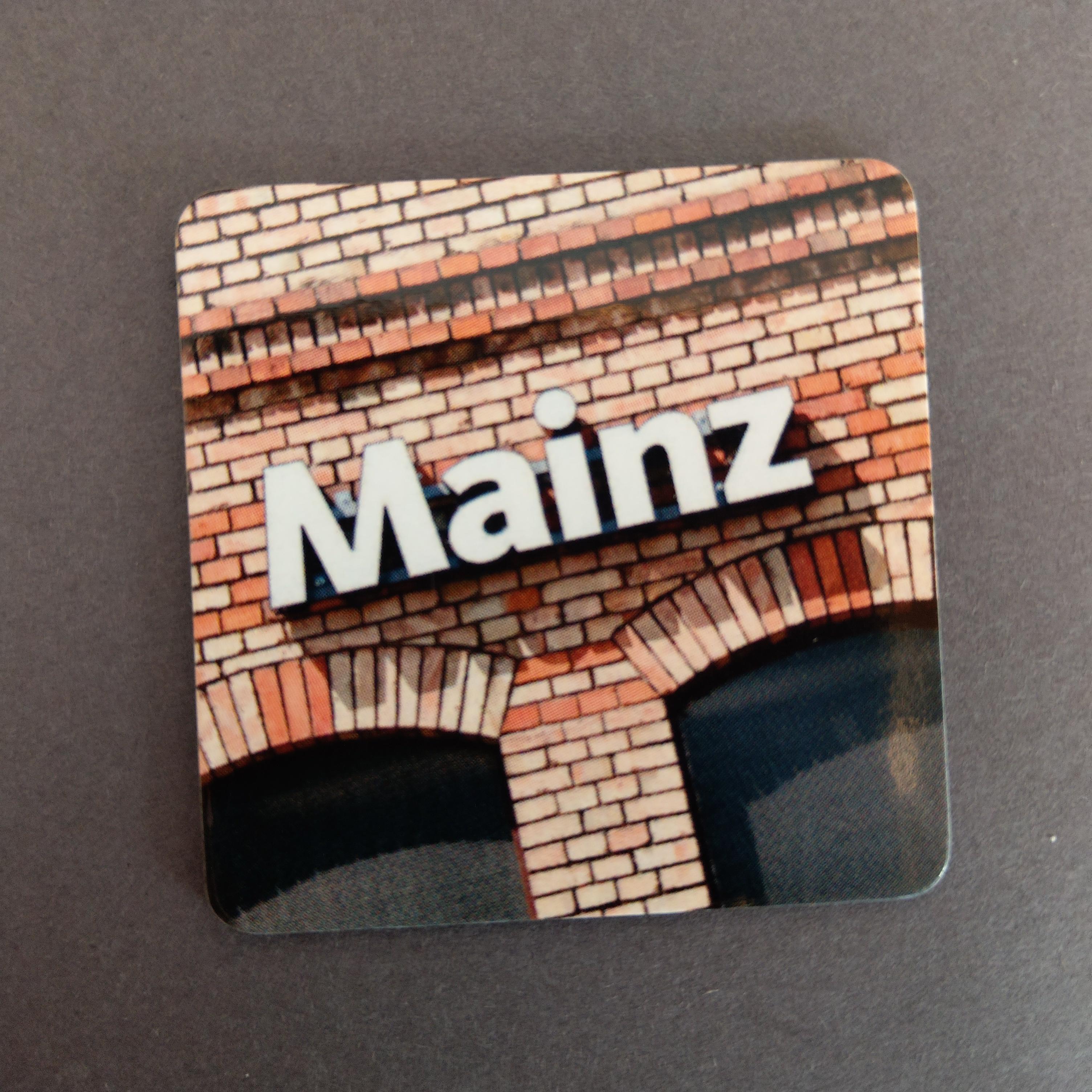 """Magnet """"Mainz im Quadrat"""" von Achim Katzberg"""