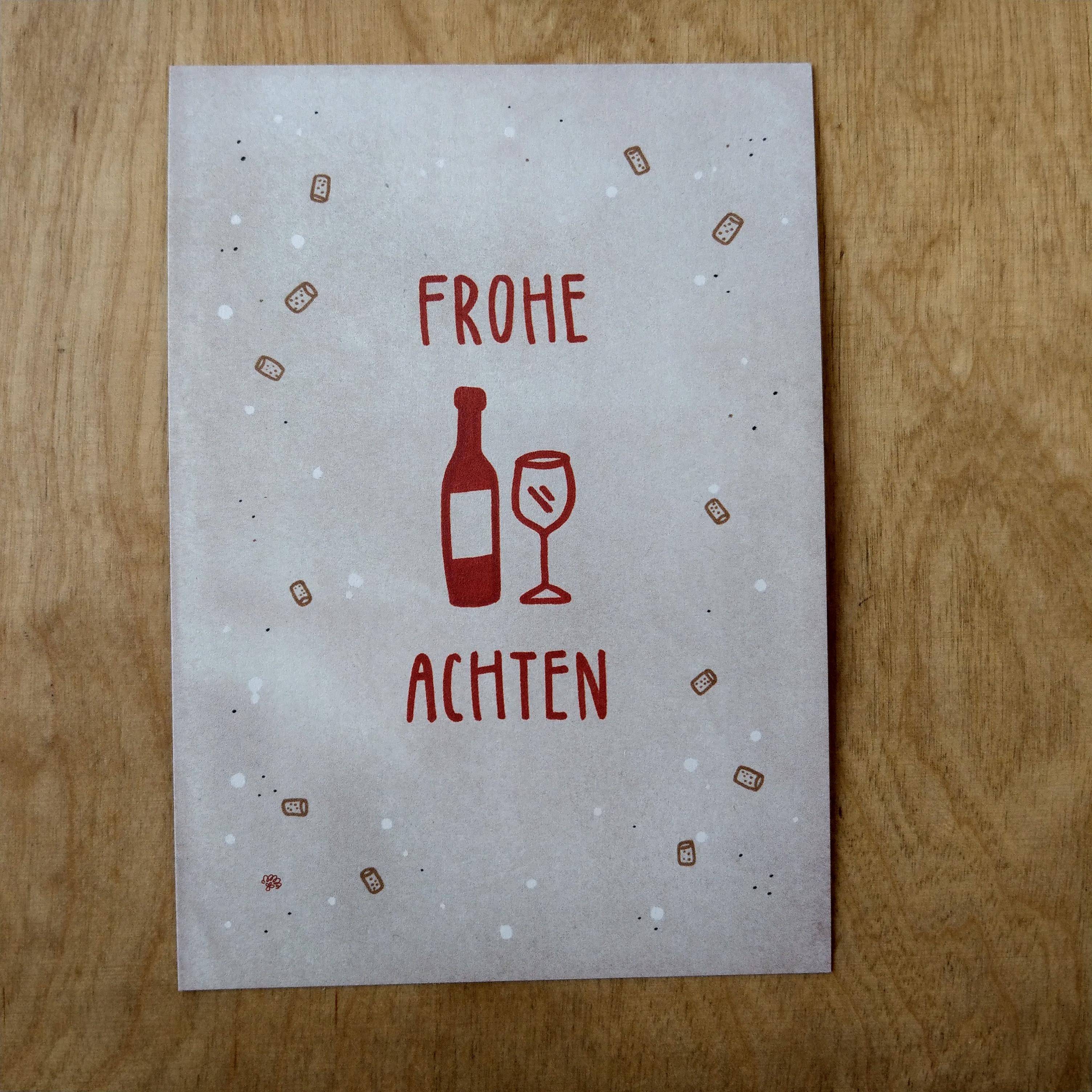 Postkarte von pinke distel