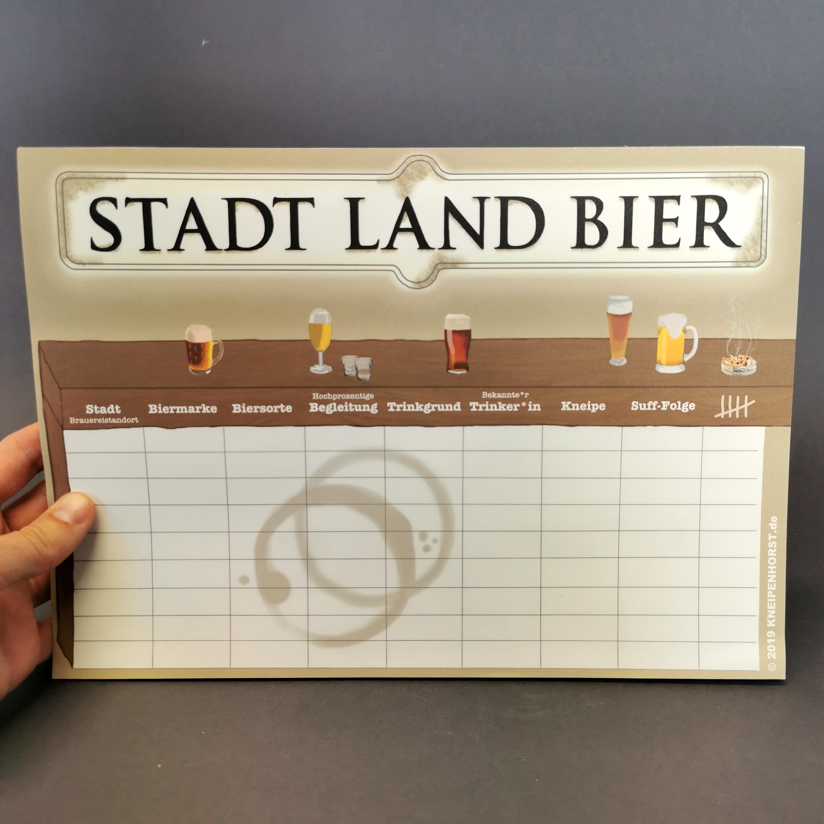 Stadt Land Bier von liebedeinestadt