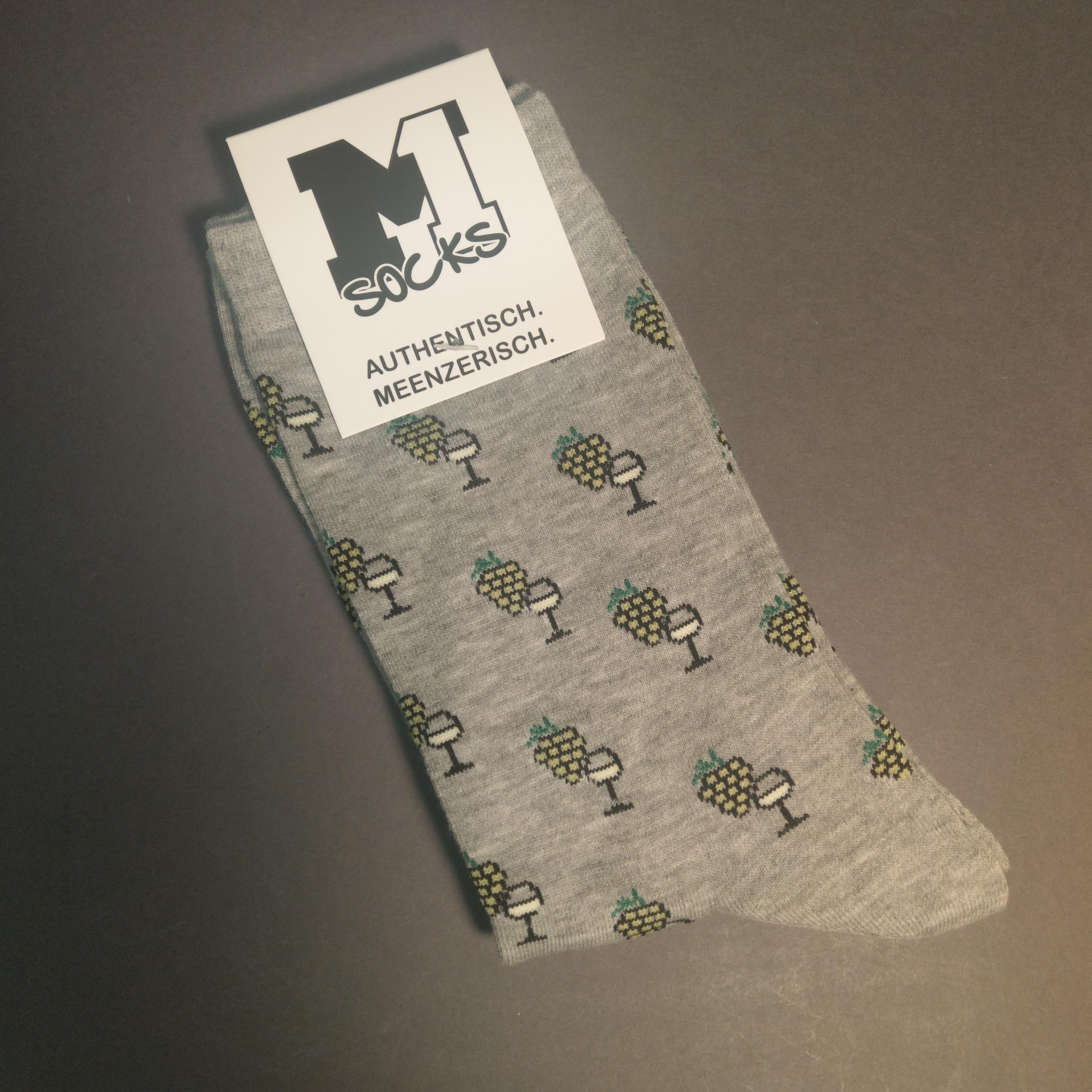 """Socken """"Wein"""" von M1"""