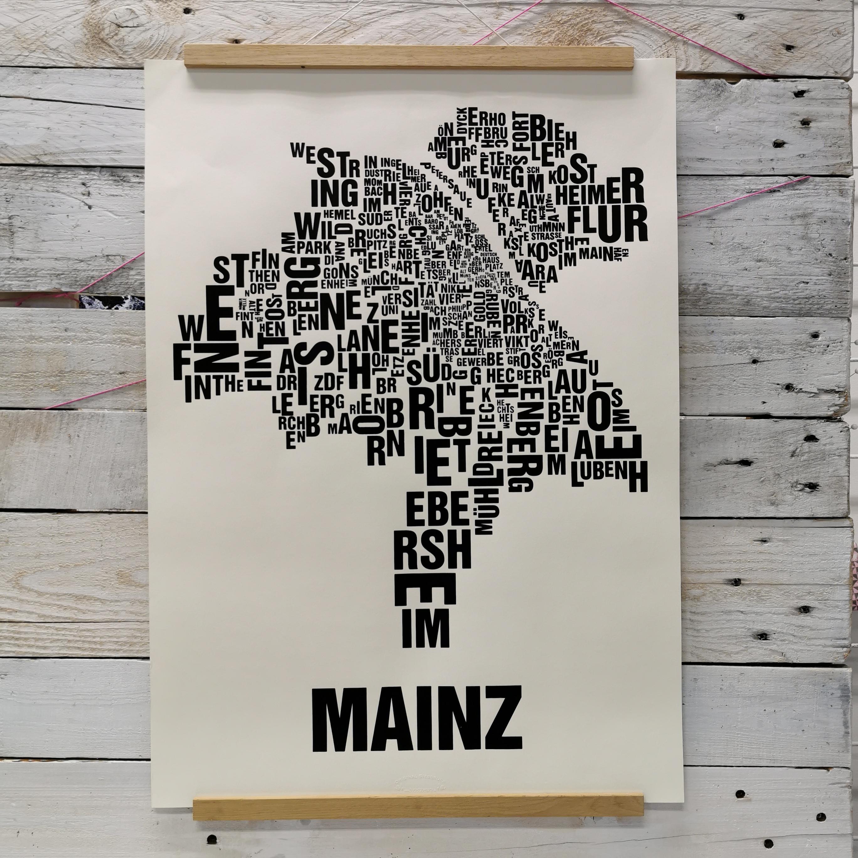 """Poster """"Buchstabenort"""""""