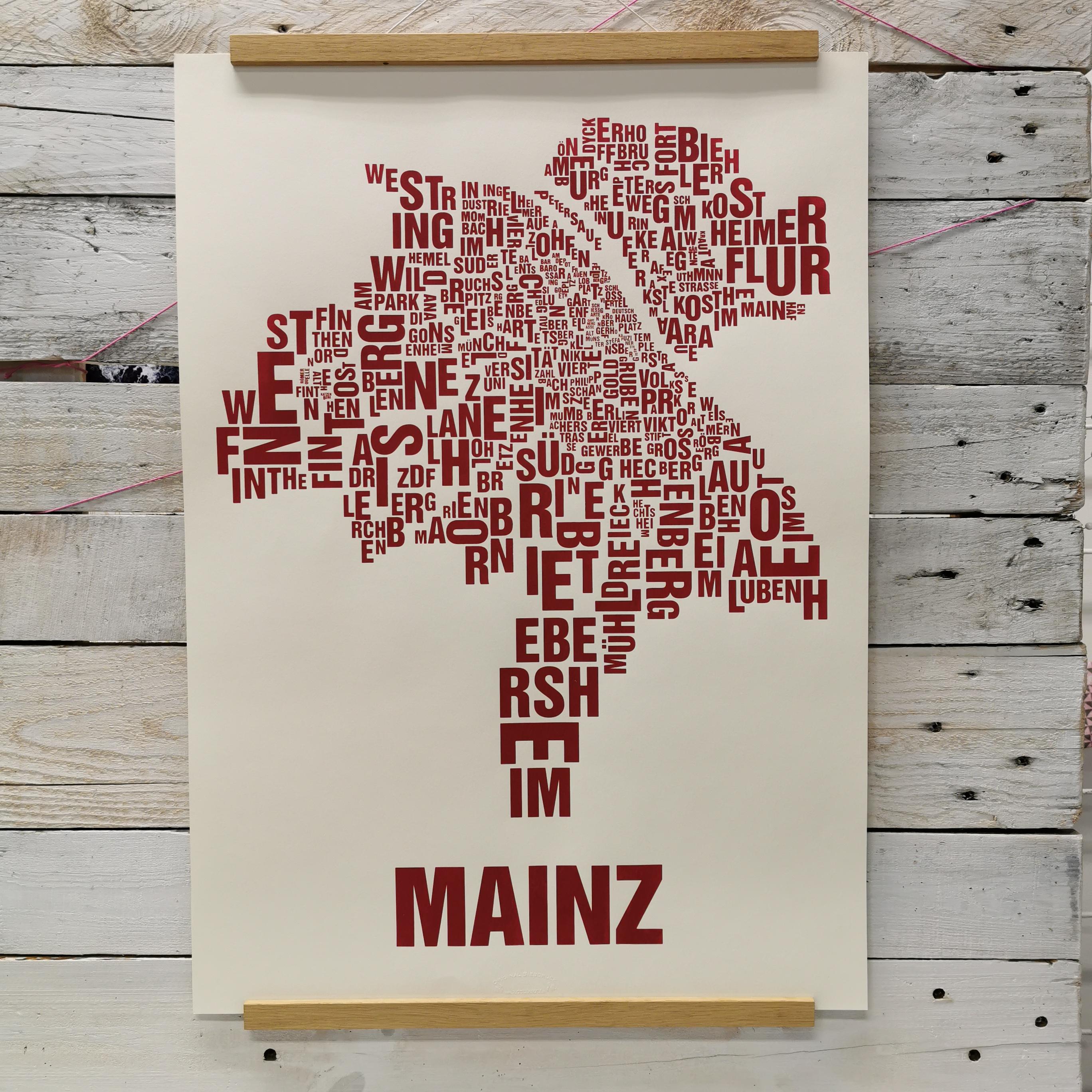 Poster Buchstabenorte