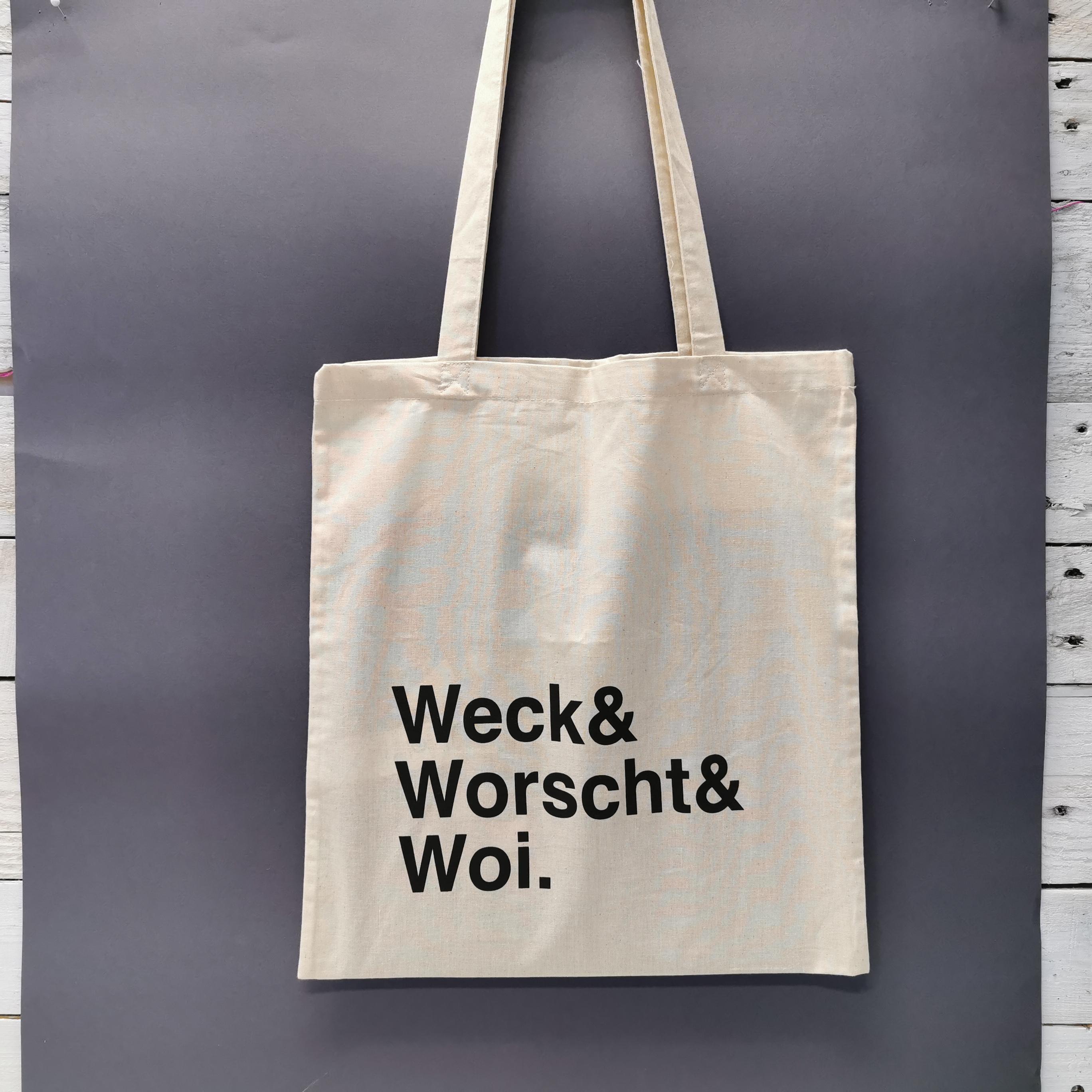 """Jutebeutel """"Weck & Worscht & Woi"""" von liebedeinestadt.net"""