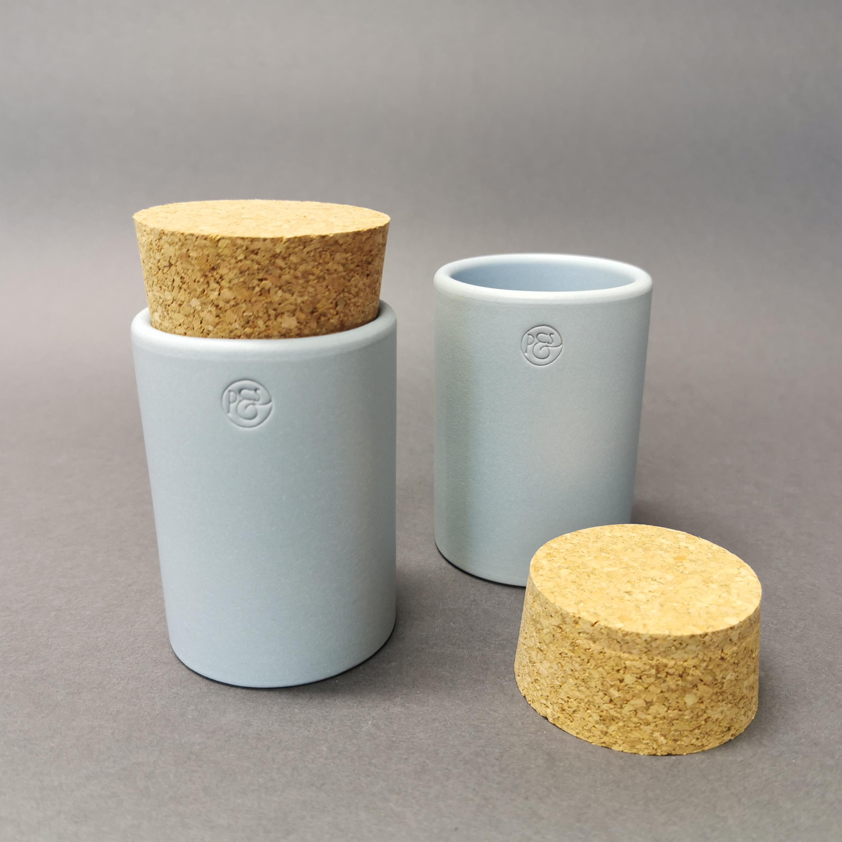 Keramikdose mit Korken von Pfeffersack & Söhne