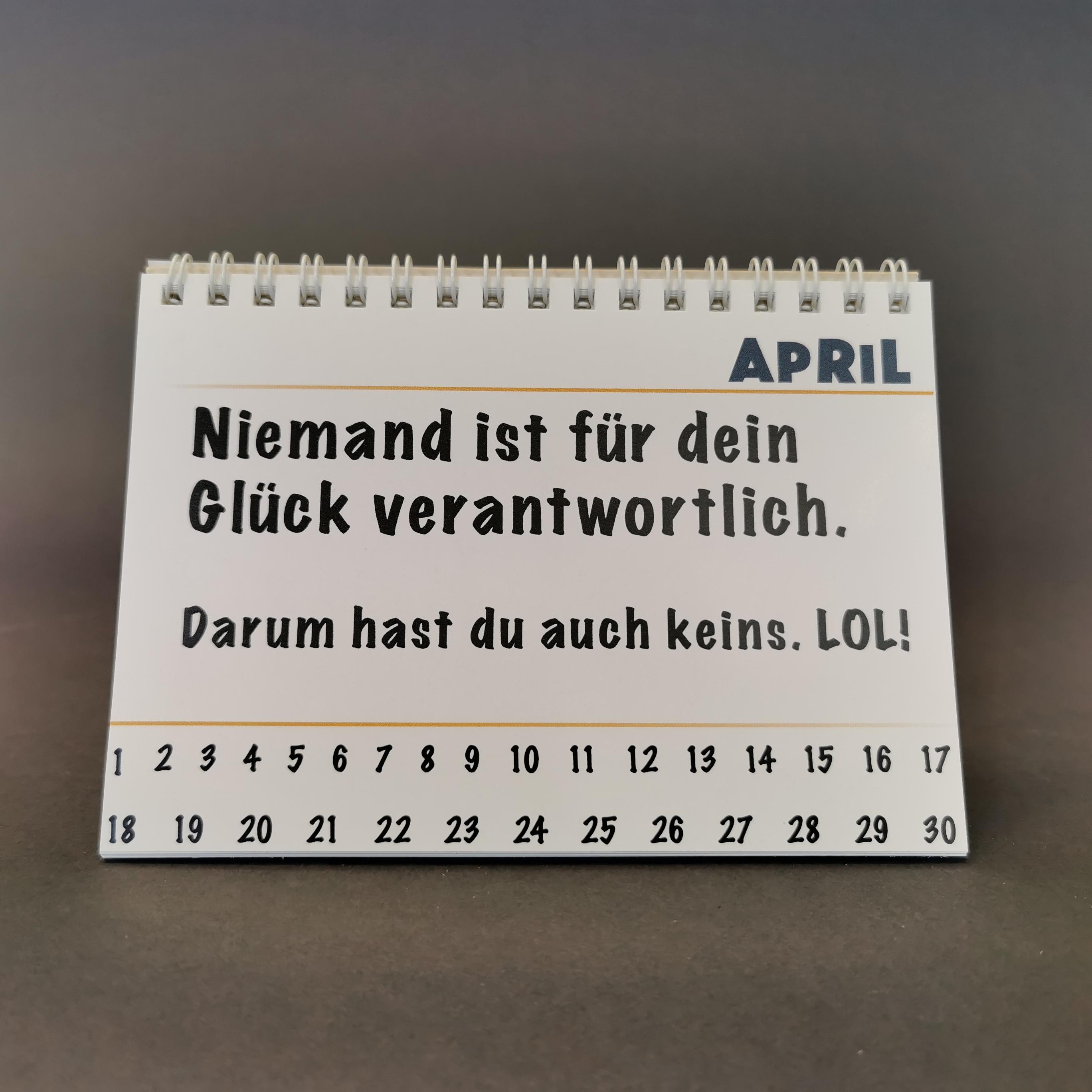 Demotivierender Tischkalender