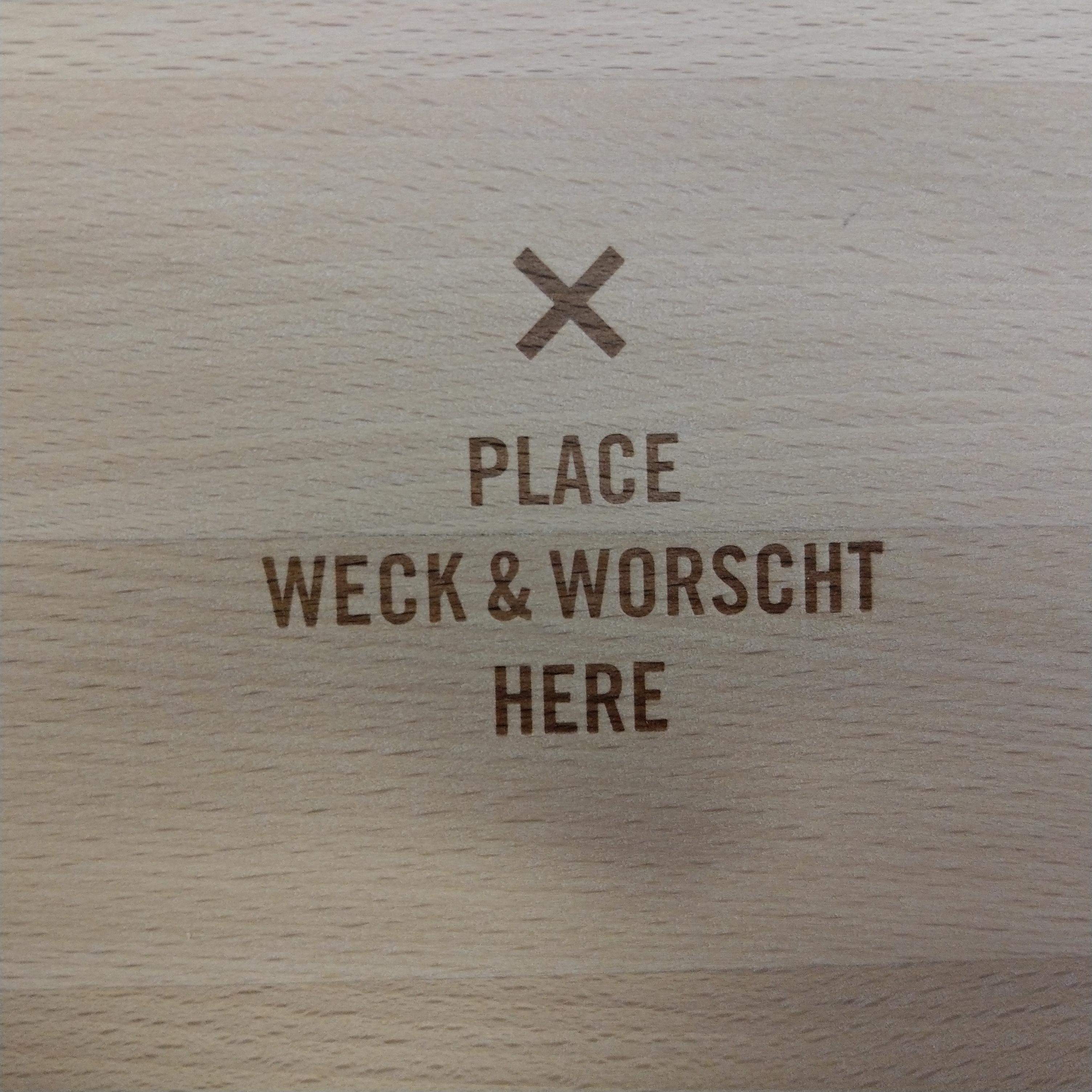 Frühstücksbrett Weck&Worscht