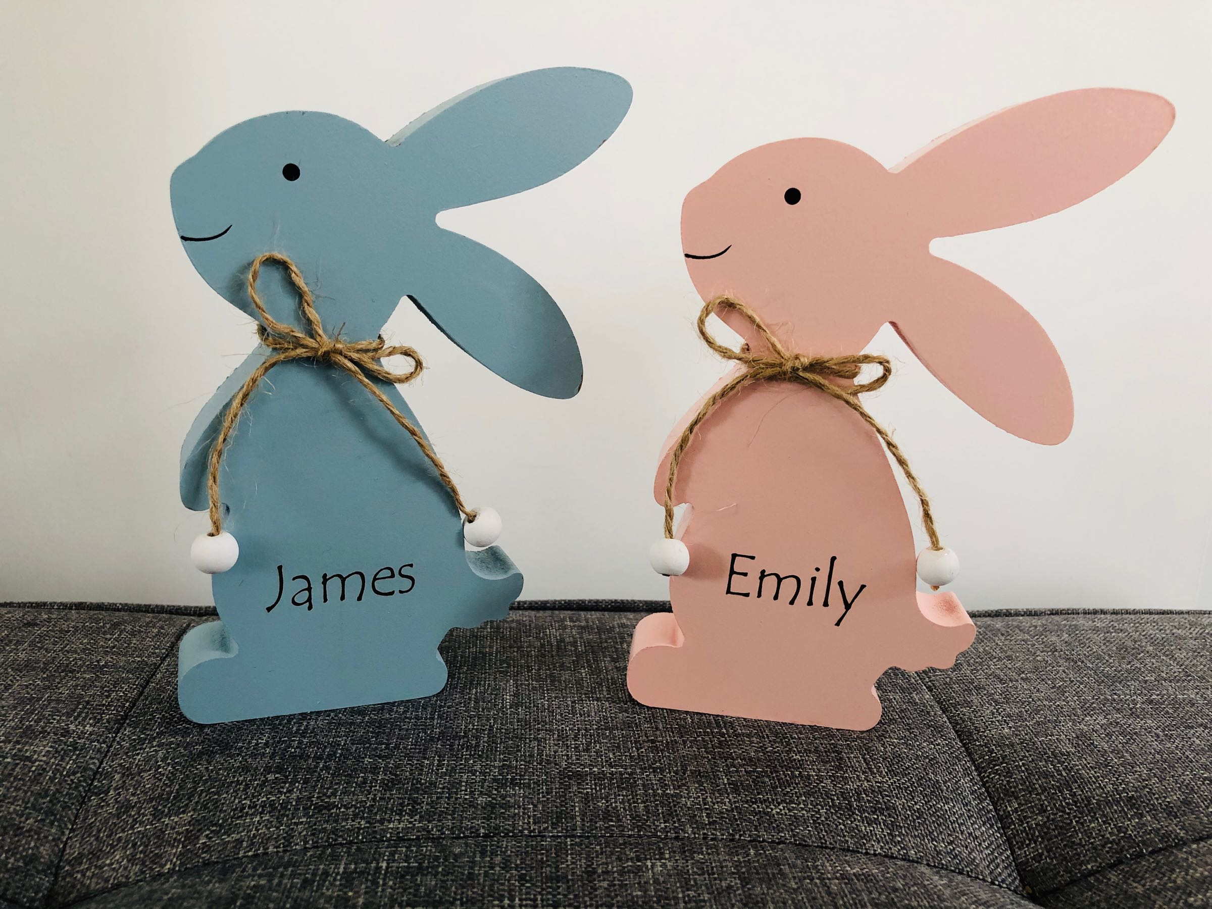Engraved  Wooden Bunny