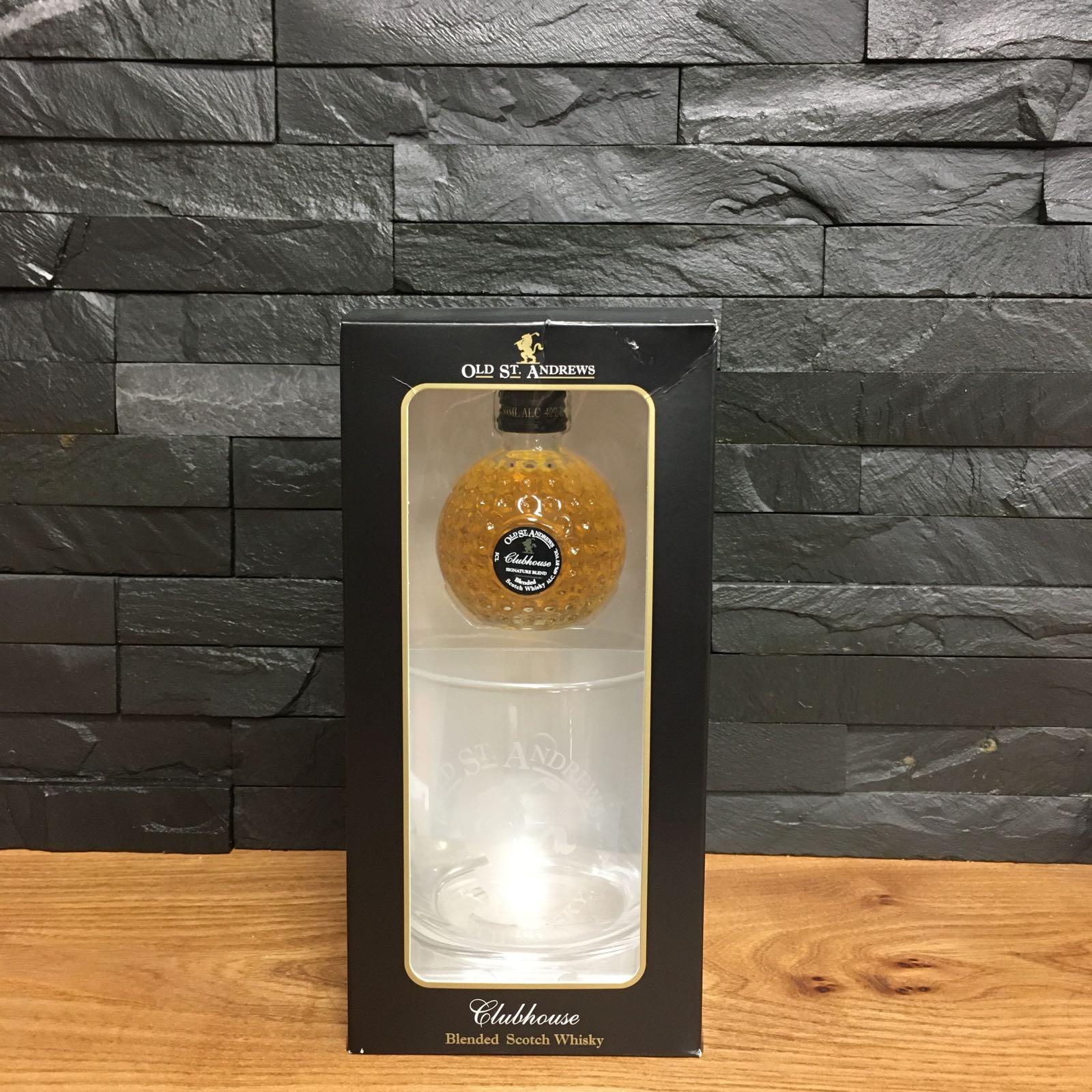 St Andrews Glass & Mini Blended Whisky 5cl