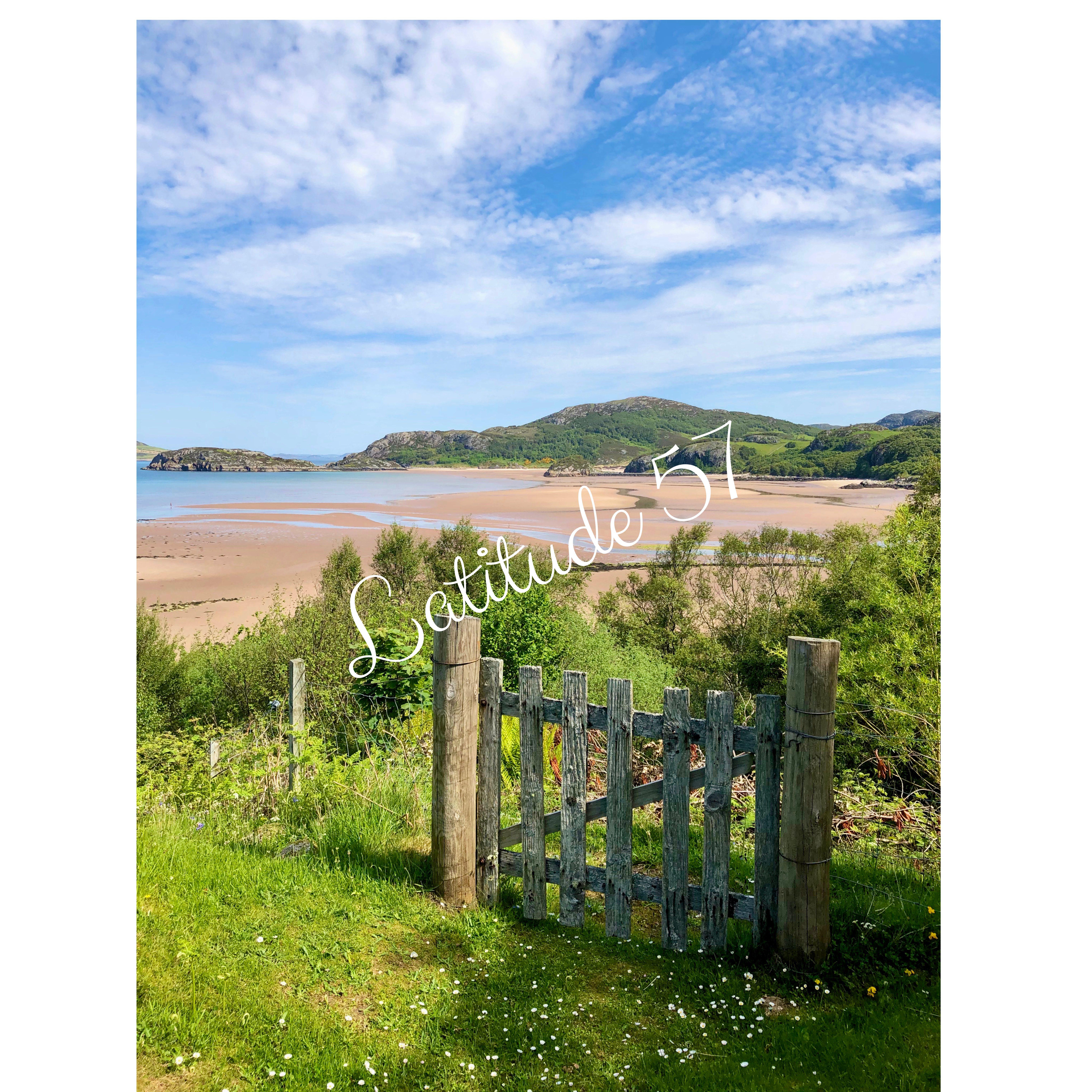 Mounted Print: Gruinard Beach from Gate